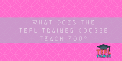 What Does the TEFL Trainer Course teach you about student motivation and classroom management? TEFL Trainer