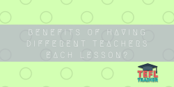 How beneficial is it for the students to have different teachers each lesson?