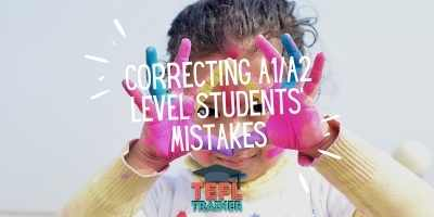 How can I not knock an A1/A2 level student's confidence by correcting their mistakes?