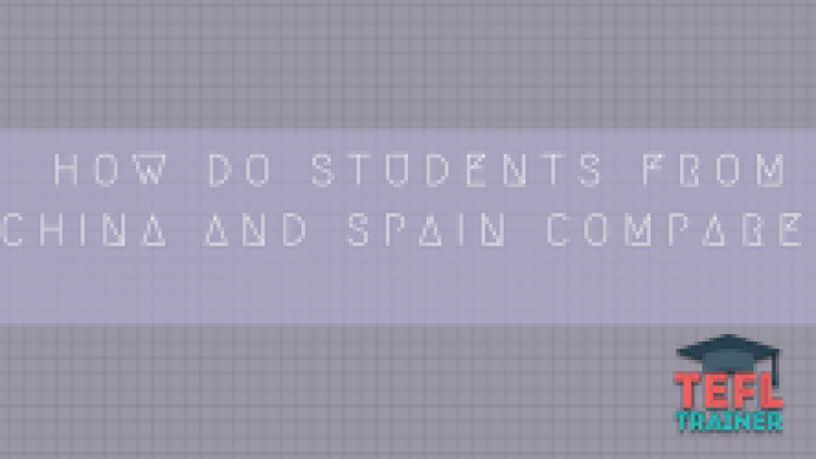 How do students from China and Spain compare?