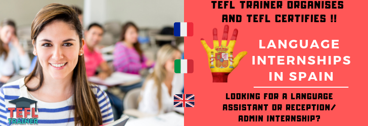 Erasmus+ language intern TEFL Trainer Spain