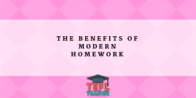 What are the benefits of modernising homework away from traditional methods in order to make learning a language more enjoyable?