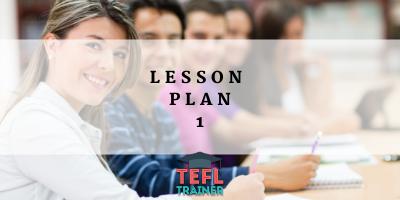Lesson Plan 1 TEFL Trainer Blog