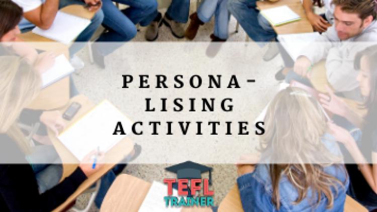 Personalising Activities
