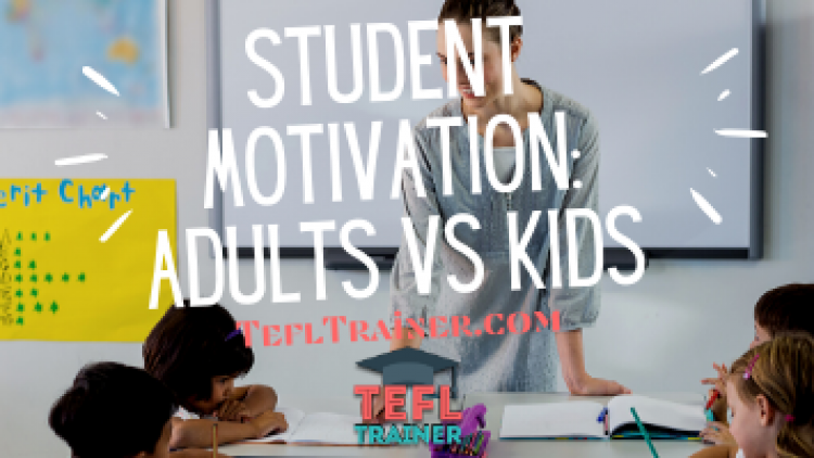 How does student motivation vary between adults and children?