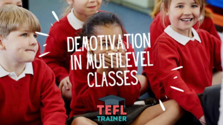 How can teachers deal with demotivation in multilevel classes?