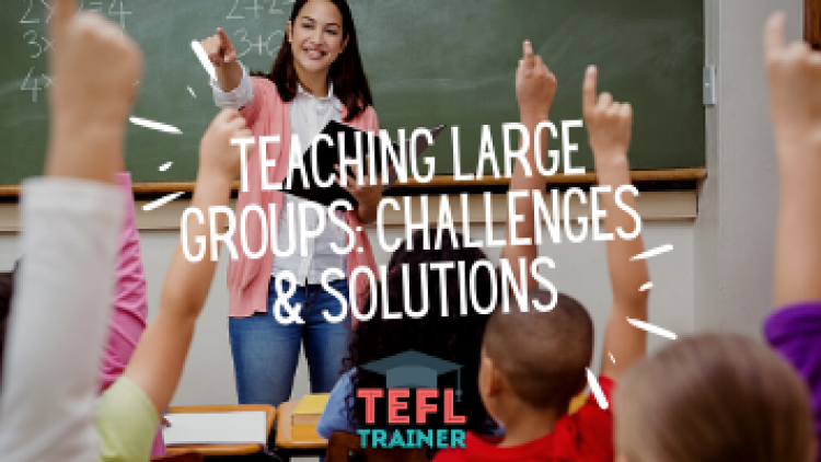 What are some of the challenges of teaching large groups and how to solve them?