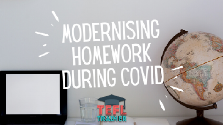 What are the advantages of modernising homework outside of the classroom to make learning English a lot more entertaining?
