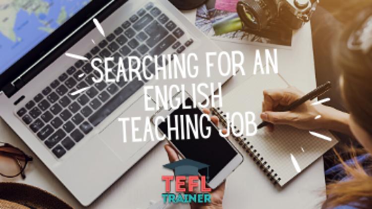 Searching for an English teaching job